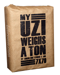 MY UZI WEIGHS A TON 7 x 70 10c
