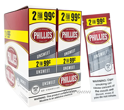 PHILLIES Cig Unswt 2/99 30/2ct