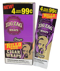 ZIG ZAG Wrap PP99 Grape 15/4pk