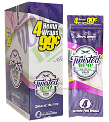 TWISTED HEMP Wrap Grape 15/4pk